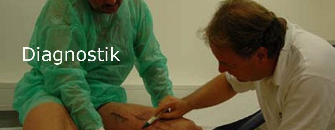 Patient mit Venenprobleme